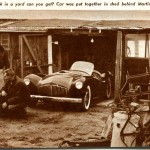 Here's a Picture of the Top Secret Martindale Family Barn in Canoga Park, California Where the Glasspar Racecar was Secretly (Peacefully?) Assembled.  Shown Are Mangles and Martindale Warming up over their Oil Heater.