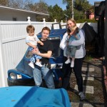 Here Ruth Brantner and Partner Sabrina Stop By My House in January 2011 To Checkout The Progress on Ruth's Father's Car - The Brantner Urba Car.