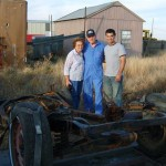 Curtis Hillman, His Wife, And Jon Greuel Are Shown Standing Next To The Original Henry J Frame - Found As Part Of Jon Greuel's Research Into This Car.