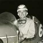 Terrific Picture of Mack Hellings at the Wheel of One of the Race Cars He Drove in the Late 1940's