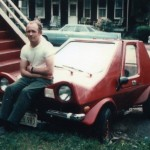 "Here Paul Is Photographed With His Recently Completed Urba Car.  It Was Painted ""Racing Red"" - Like All Fiberglass Sports Cars Should Be Painted (*wink*)."
