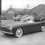 Here's the First Victress S4 Produced - Shown Newly Minted Outside the Victress Factory in early 1954.  Hugh Jorgensen Designed It - A Student at the Art College of Design in Pasadena and Later an Instructor There Too.