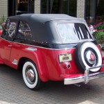 1950 Jeepster - R - red