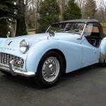 1959 Triumph TR3 - LF - blue