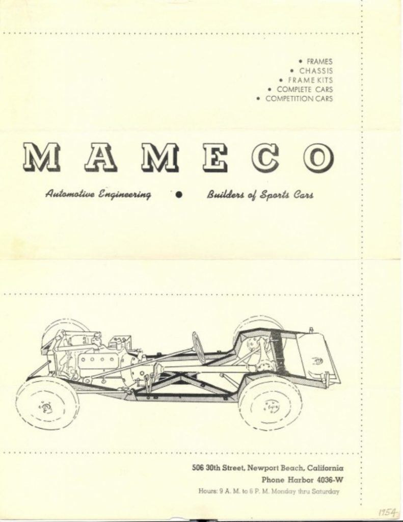 Mameco Brochure Page 1