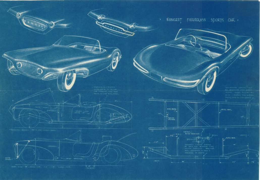 Dreams of what coulda shoulda woulda beene boyd lindberg heres the bangert sports car blueprint that boyd saved for other 50 years were lucky since this is just one of two known to exist malvernweather Gallery