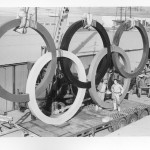 As You'll Learn as you Watch the Video Below, Victress Produced Not Just Sports Cars Bodies But Also Had Significant Military and Government Contracts Too.  Here Two Victress Employees Show Off Their Handiwork Before Installation of the Olympic Rings for Squaw Valley in 1960.