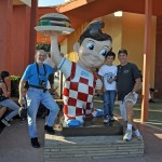 "During My Stay in Los Angeles for ""Fiberglass Day"", Merrill and Gerianne Powell, Friends Eric and Kenny Schultz and I Went to See The Original Location of the Victress Big Boy at Toluca Lake (Burbank).  The Big Boy Here Was a More Modern Replacement Than the One's Created by Victress in the 1950's."
