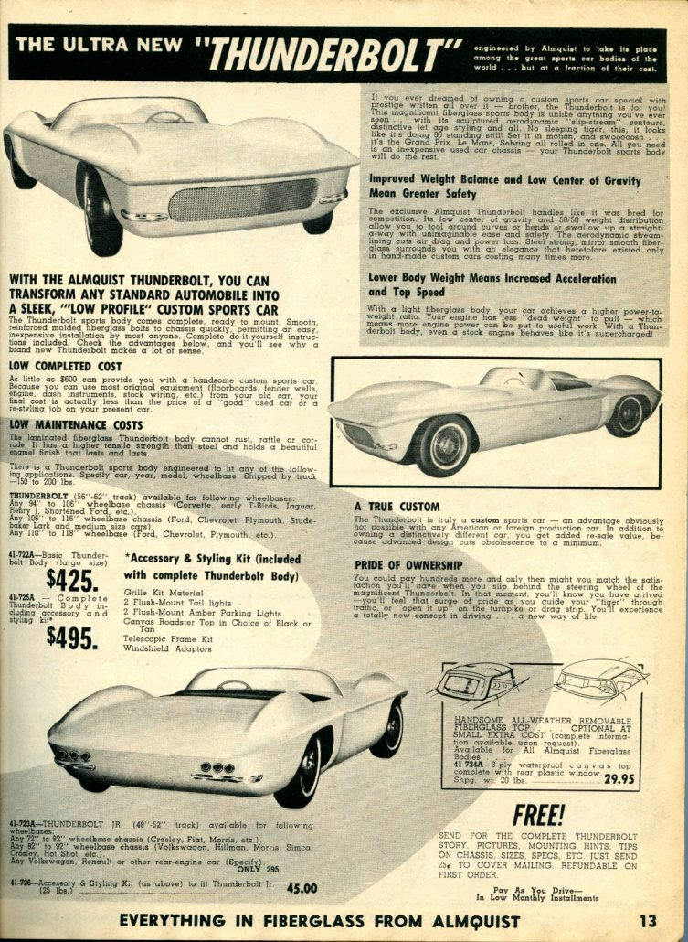 """The Ultra New And Mighty Almquist """"Thunderbolt"""" (Almquist Catalog ..."""