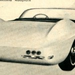 Rear Shot Shows Similar Style of Back End To Corvette of Same Period