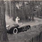 This Photo's From The Tritt Family Collection And Shows Warren Gerdes Exiting From The Car - Just After The Fire Erupted Under The Hood.