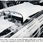 Here You Can See the Process of how Eric Irwin Built the Mold For His Car.  The Wood Strips and Expanded Metal Lathe Formed The Structure Of The Plaster Mold.
