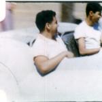 Wayne Kady and Friend Enjoying Drive of Sport Custom - Circa 1954