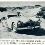 Caption: Glasspar built this experimental plastic body for U.S. Rubber, whose resin was used in it.