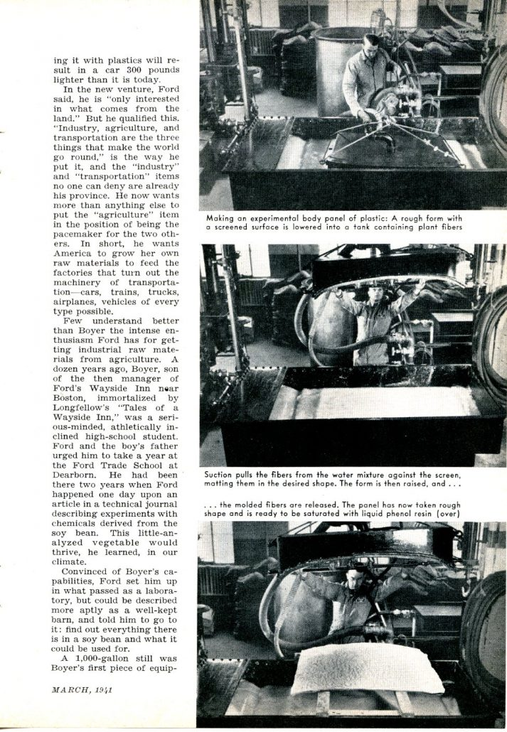 Henry Ford Demonstrates Plastic Bodies For Cars Popular
