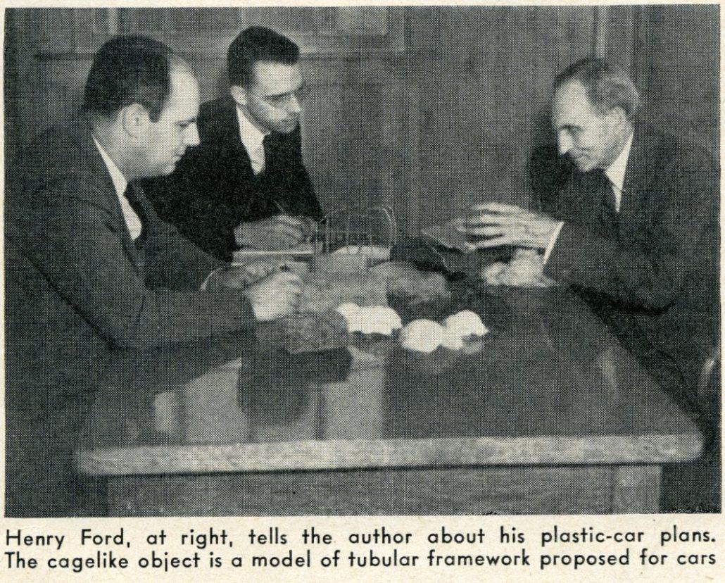 Caption Henry Ford ...  sc 1 st  Forgotten Fiberglass & Henry Ford Demonstrates Plastic Bodies For Cars: Popular Science ... markmcfarlin.com