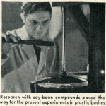 Caption: Research with soybean compounds paved the way for the present experiments in plastic bodies.