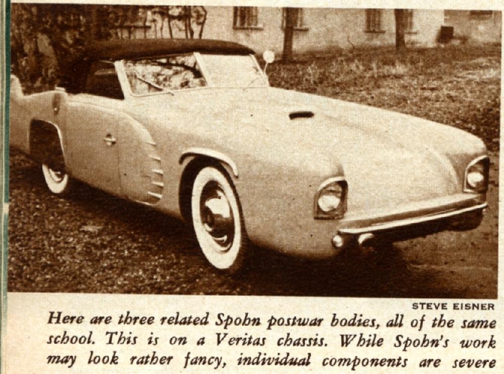The 1949 Spohn Veritas Sports Car Special Pre Auction Pictures Forgottenfiberglass Com