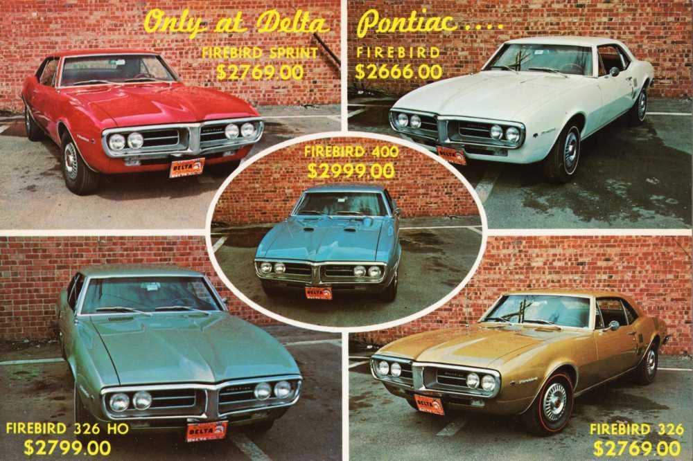 Chuck Tatum, Delta Pontiac, front of postcard