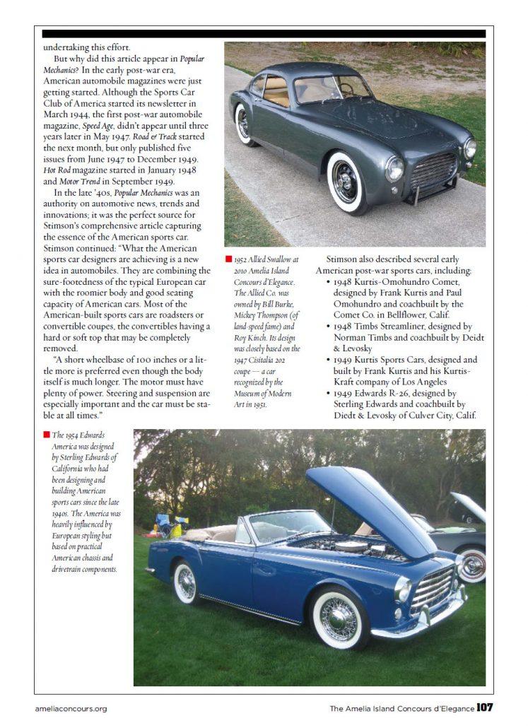 The Emergence Of The American Postwar Sports Car