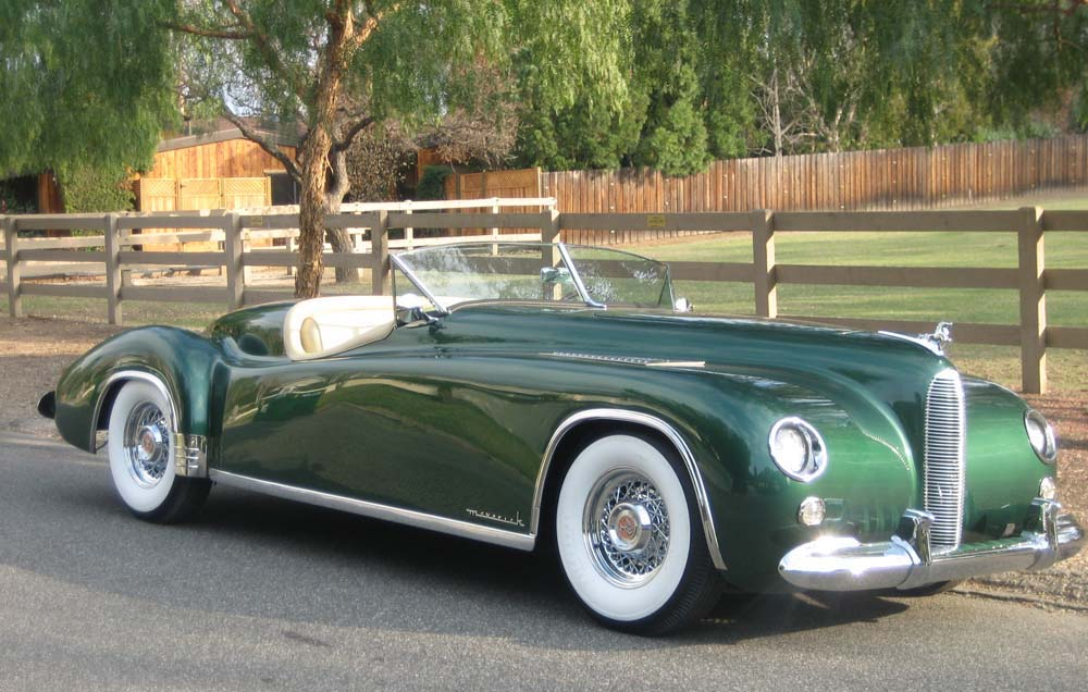 1952 Maverick Speedster. Featured at the 2012 Pebble Beach Concours d'Elegance and the 2007 Amelia Island Concours d'Elegance.