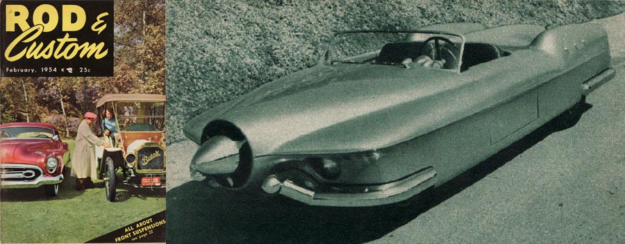 The 1953 Manta Ray Concept Car: Rod & Custom, Febr…
