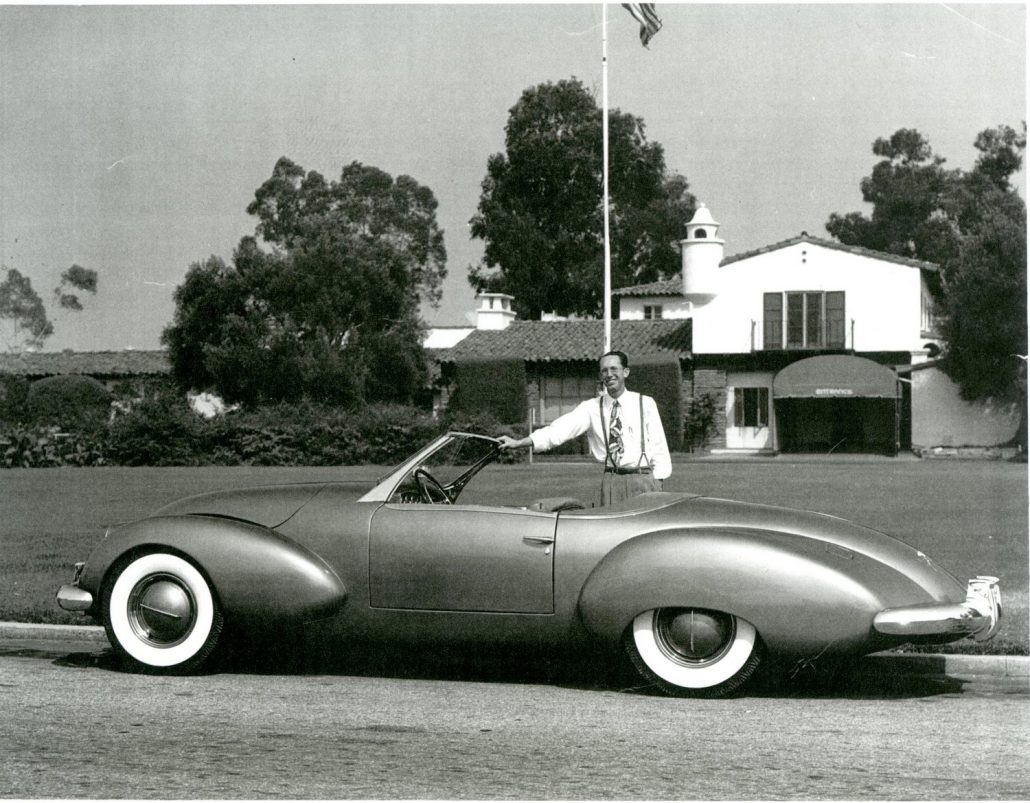 Paul Omohundro With His Newly Finished Comet in California in 1948