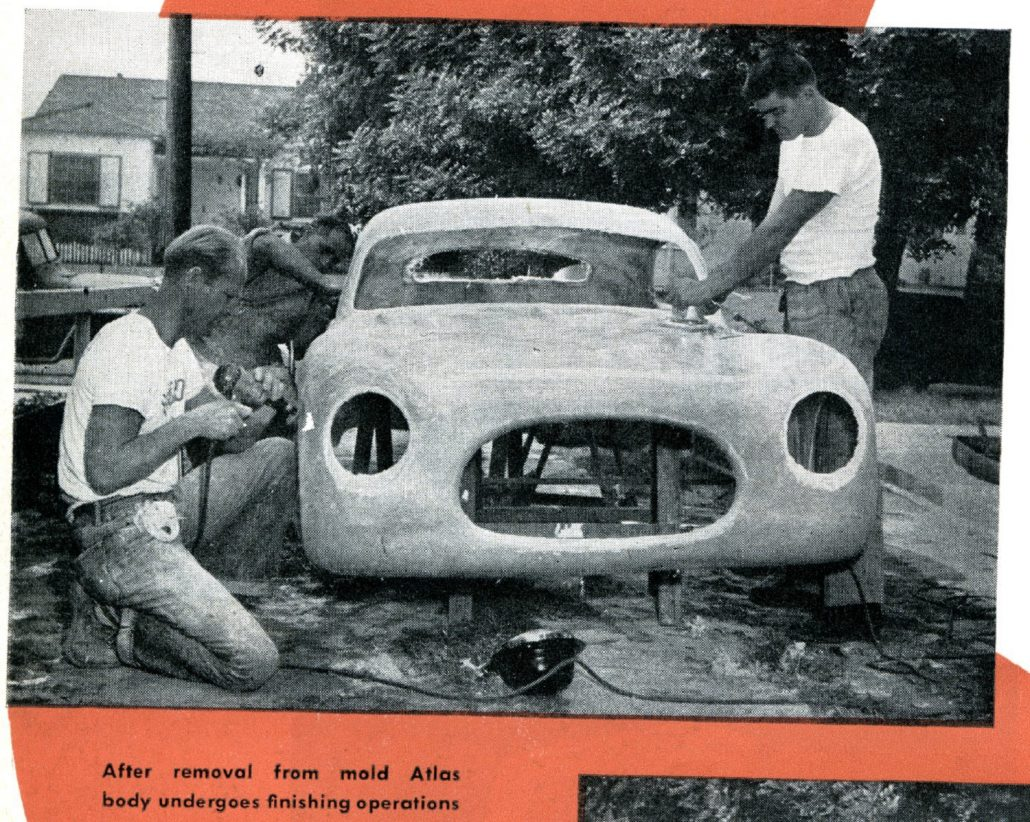 From Left to Right: Bill Burke, Roy Kinch and on Mickey Thompson - 1952