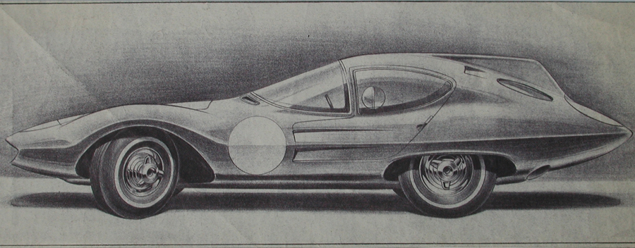 "Strother MacMinn's 1959 ""Sports Cars of the Future"" Book Now…"