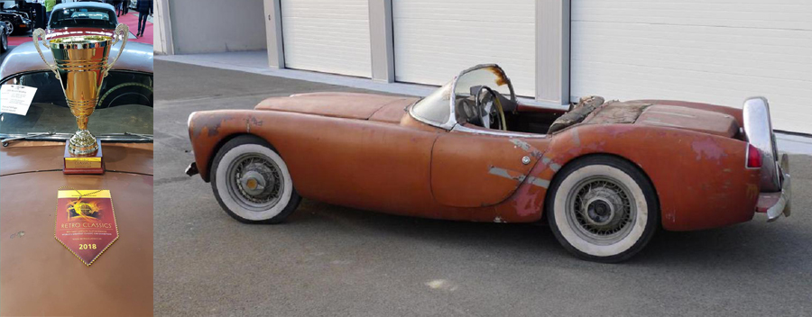 """1955 Woodill Wildfire Wins """"Car of the Exhibition"""" at Stuttg…"""