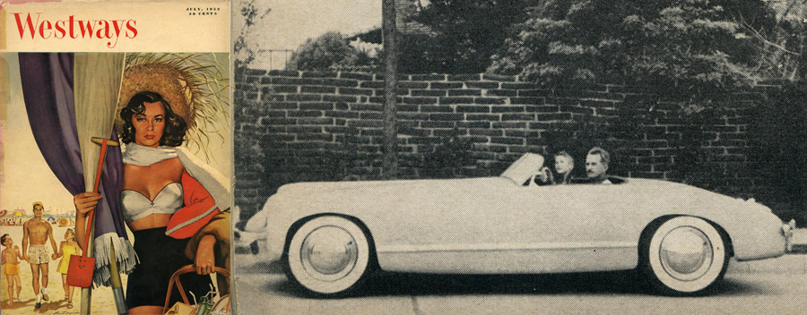 Plastic Cars Are Here – Westways Magazine: July, 1952