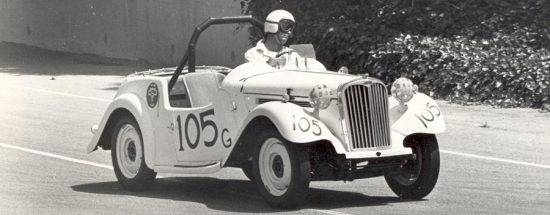 Ralph Bush and His 1954 Singer Race Car