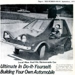 Paul Was One Happy Camper With His Finished Urba Car - Shown Here In A September 1977 Local Newspaper Article.