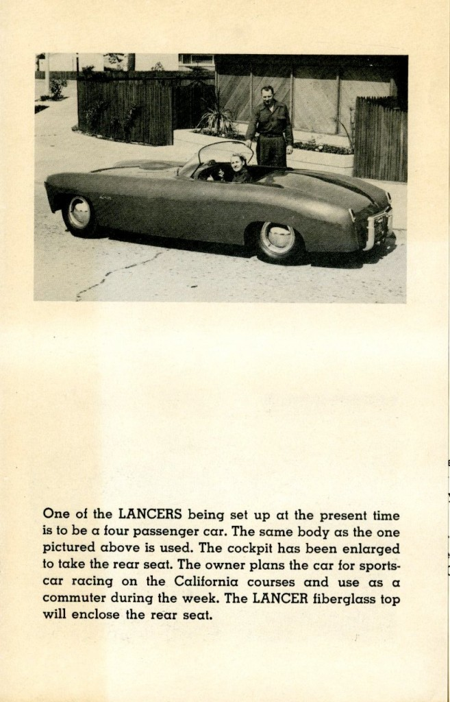 Lancer Brochure 1955: Fiberglass Sports Bodies For Your