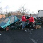 Here Geoff Hacker (me) Is Shown Beginning To Load The Urba Car On A Cold December 31st, 2008 Morning In Cumberland, Maryland.