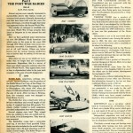 "This Is The First Page Of The First Article That Kicked Off Perry's ""Quarter Century Chronicle"" Series Of Articles.  And....A Fiberglass Car Appears On This Page Too - Rick And I Knew We Were Off To A Great Start!"