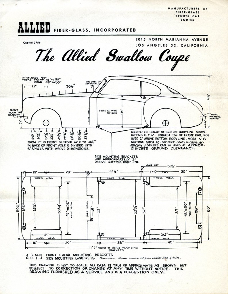 The Atlas Allied Fiber Glass Company Details Are In What Is Annotated Diagram First Edition Unnamed Car 100 Wheelbase Hacker And Kunicki Collection