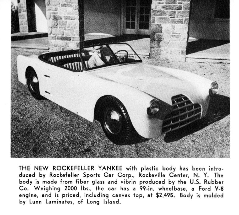 Rockefeller Yankee, Auto. Topics, April 1953