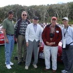 Shown are Steve Cowdin, Roger Adams, Ed Almquist, and Clark Mitchell at the Amelia Island Concours d'Elegance in March 2010.