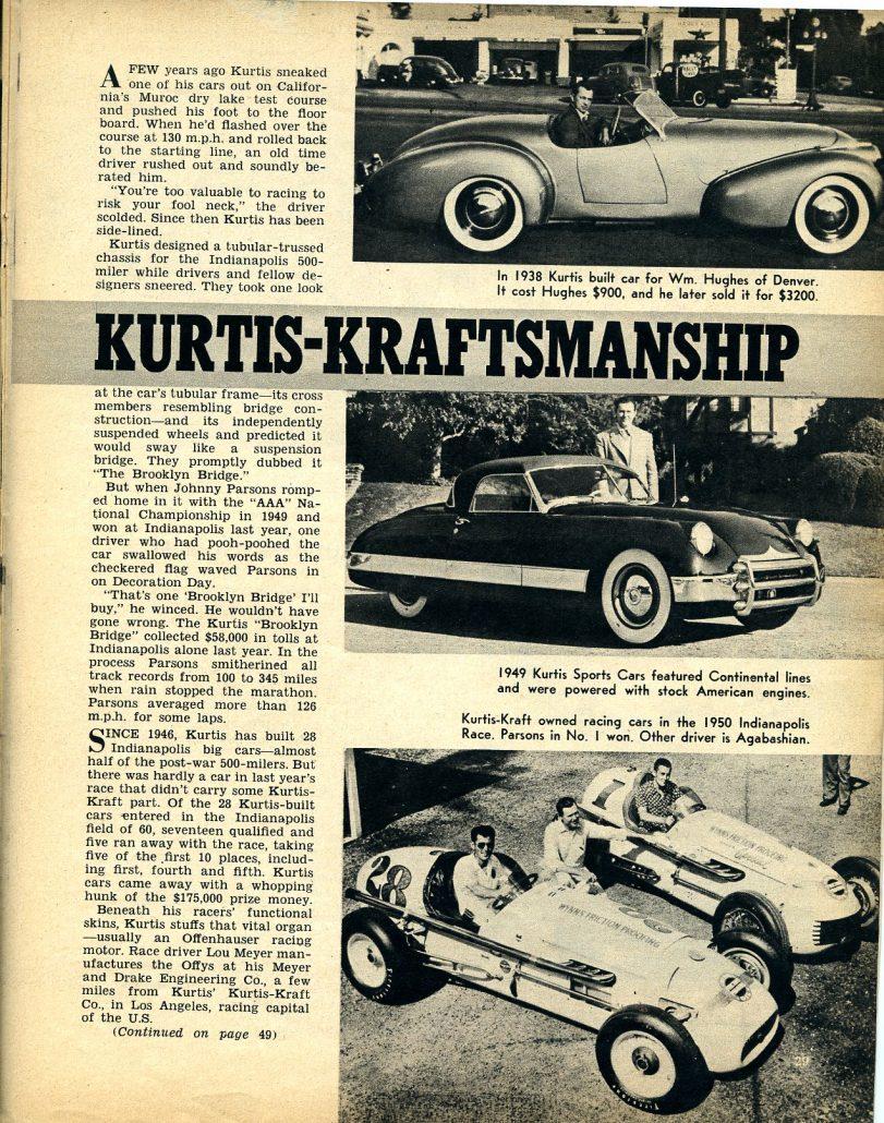 Kurtis Kraftsmanship: Auto Sport Review, May 1952 ...