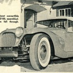 Caption: The Glasspar Ascot Convertible Was to Sell For $2100, Assembled.  Production Plans Fell Through.