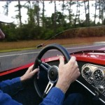Here's Steve At The Wheel Of His Victress S1A - A Man, His Car, and A Dream...