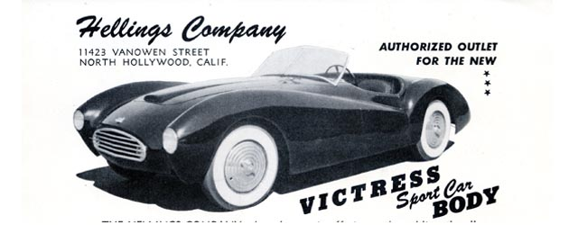 The Hellings Victress Flyers #1 U2013 Build Your Own American Sports Car!  (1953+)